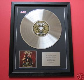 BLACK EYED PEAS - Monkey Business CD / LP PLATINUM PRESENTATION DISC